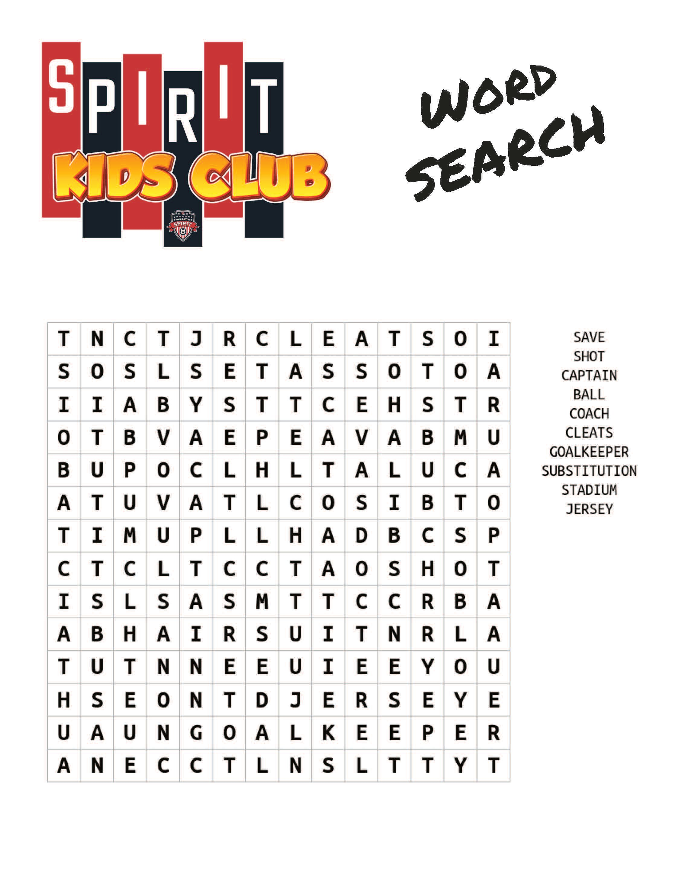 activity pages word search