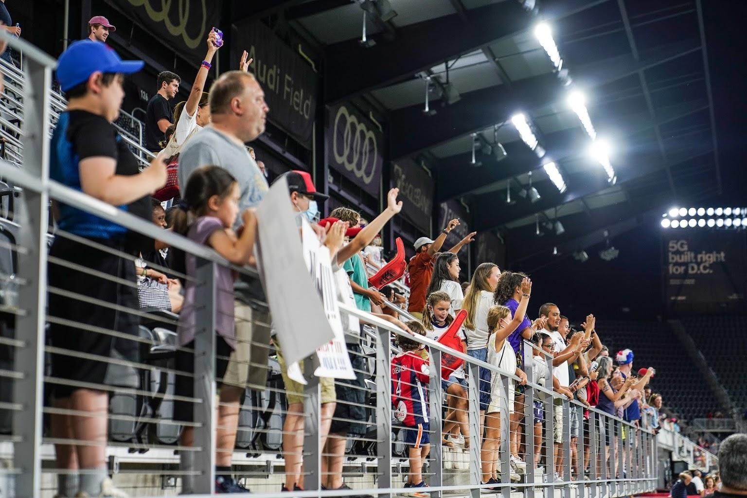 fans at Audi